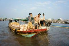 Cai Rang floating market, Mekong Delta travel Royalty Free Stock Image