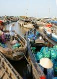 Cai Rang floating market, Mekong Delta travel Royalty Free Stock Photos