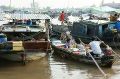 Cai Rang floating market, Mekong Delta travel Stock Images