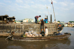 Cai Rang floating market, Mekong Delta travel Stock Photography