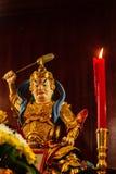 Cai Shen, Chinese God van rijkdom, God van fortuin Stock Foto's
