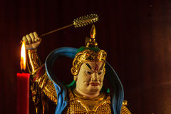 Cai Shen, dios chino de la riqueza, dios de la fortuna Fotos de archivo libres de regalías
