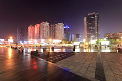 Cai wai wai square of shenzhen city night sight Stock Images