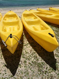 Caiaque amarelo da canoa Foto de Stock Royalty Free