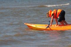 Caiaque do mar Fotografia de Stock