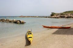 Caiaque do mar Imagem de Stock Royalty Free