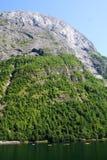 Caiaque e montanha Fotografia de Stock Royalty Free