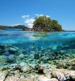 Caiaque e snorkeling imagem de stock