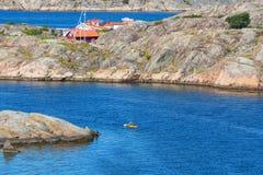 Caiaque no mar Imagem de Stock