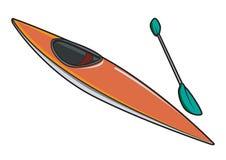 Caiaque ou canoa com pá Imagem de Stock Royalty Free