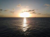 Caida del sol fotografía de archivo libre de regalías