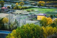 Caiga para la gente tibetana en Tianyuan Geng Foto de archivo libre de regalías