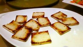 Caillette de haricots grillée de tofu, un plat typique de cuisine chinoise image stock