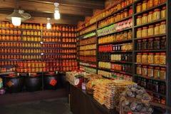 Caillette et conserves au vinaigre de haricots fermentées faites main chinoises Photo libre de droits