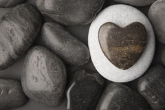 Caillou en forme de coeur Photo libre de droits