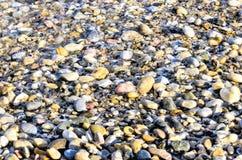 Caillou, plage, Turquie, bord de la mer, bord de la mer Image libre de droits