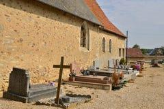 Γαλλία, το γραφικό χωριό Caillouet Orgeville Στοκ Φωτογραφία