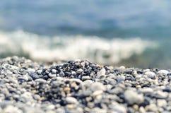Cailloux à la plage photo libre de droits