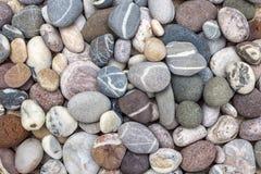 Cailloux colorés de plage Image libre de droits