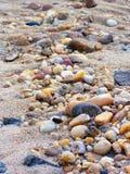 Cailloux dans le sable Photo stock