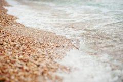 Cailloux de mer, océan, vague, côte Photos stock