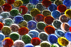 Cailloux en verre Photographie stock