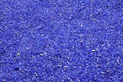 Cailloux en verre bleus images stock