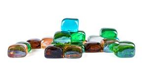 Cailloux en verre colorés Photographie stock