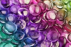 Cailloux en verre multicolores Images libres de droits