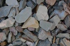Cailloux et petites pierres pour la décoration de jardin Image libre de droits