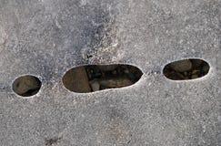 Cailloux glacials Photos libres de droits