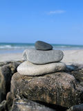 Cailloux sur la plage Images libres de droits
