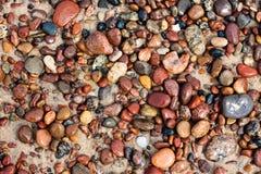 Cailloux sur le sable Images libres de droits