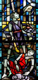 Cain and Abel in stained glass. A stained glass photo of Cain and Abel Royalty Free Stock Photos