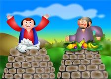 Cain e Abel ilustração stock