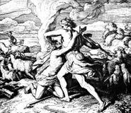 Cain Kills Abel Imágenes de archivo libres de regalías