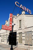 Cain's Ballroom in tulsa, ok. Historic Cain's Ballroom Concert Hall in Tulsa, Oklahoma stock photography