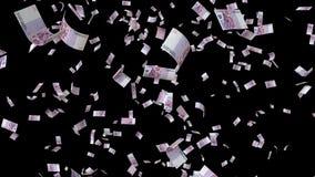 Caindo cinco cem euro- contas dê laços ilustração stock