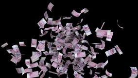 Caindo cinco cem euro- contas dê laços ilustração do vetor