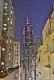 Caine Rd en la noche Hong-Kong Imagen de archivo