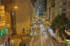 Caine Road alla notte HK 2016 Fotografia Stock