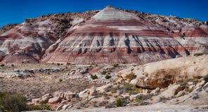 Caineville Badlands, Utah stock fotografie