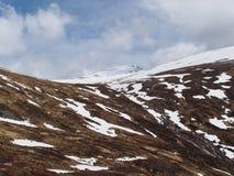 Cainrgorms山, Braeriach地区,苏格兰 免版税库存图片