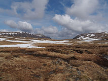 Cainrgorms plateau, south of Braeriach, Scotland in spring. Cainrgorms plateau, south of Braeriach, looking toward Sgor Gaoith, Scotland in spring Stock Photos