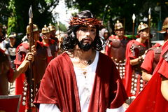 Jesus Christ's Death Re-enactment Royalty Free Stock Photos