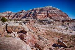 Cainville Badlands van Utah stock foto's