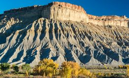 Cainville, Utah Badlands. Geological formations in the Cainville Balands near Capitol Reef National Park, Utah Stock Photos