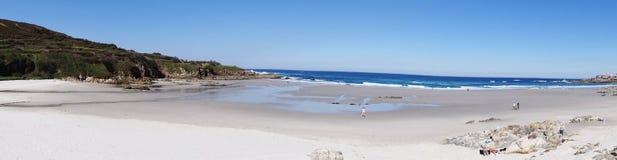 Caion beach landscape- North Coast Spain Stock Image