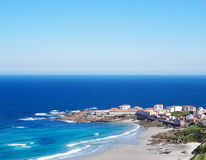 Caion village landscape- North Coast Spain Stock Photo