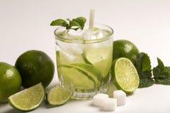 Caipirinha - brazilian`s national cocktail made with cachaca, su Royalty Free Stock Photos